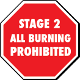 Stage 2 - All Burning Prohibited